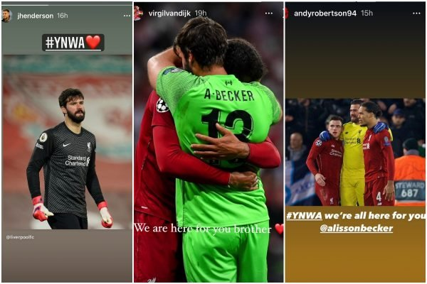 Alisson says thanks for support after tragic death of his 'beloved father'
