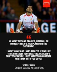 'This guy loves football!' – How Suarez stunned former Liverpool youngster Canos