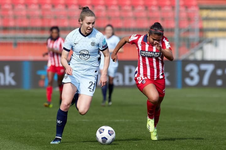 Niamh Charles shines in Chelsea's two-legged Champions League victory over Atletico Madrid