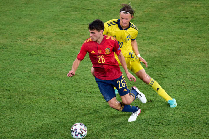 Pedri  looks a natural as he becomes Spain's youngest ever Euros player